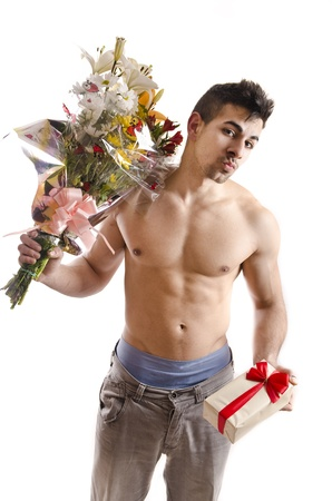 san valentin: Sexy casanova on white background