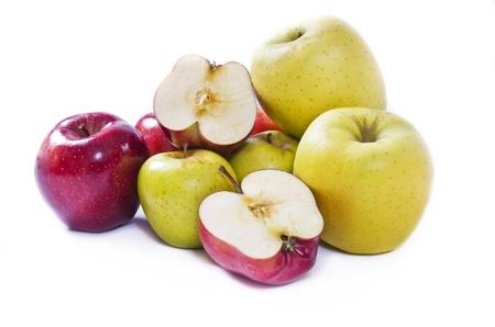 golden apple: Apples compilation Stock Photo