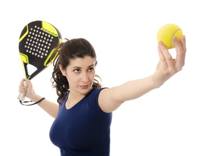 Female paddle tennis  photo
