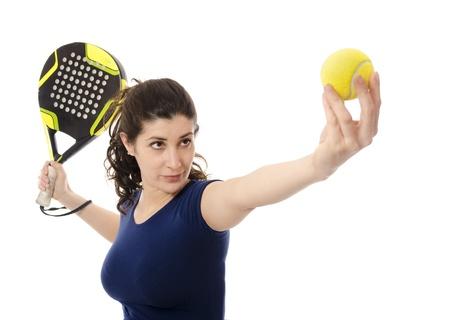 paddle: Female paddle tennis
