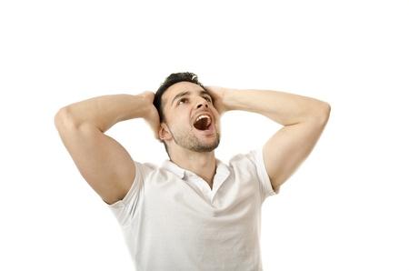 Expressive isolated man  photo