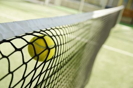tenis: Net detener un buen disparo
