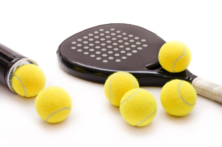Isolated paddle tennis objects