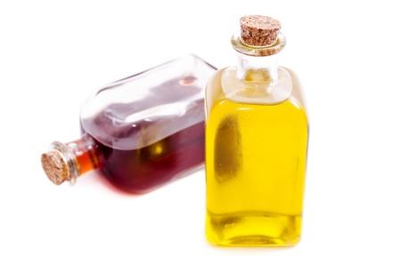 vinegar bottle: Olive oil and vinegar