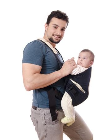 nursing baby: Kangaroo daddy