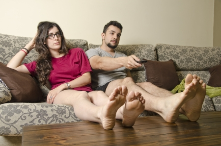 sedentary: Tv boring couple