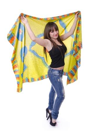 bandana girl: bandana and happy girl