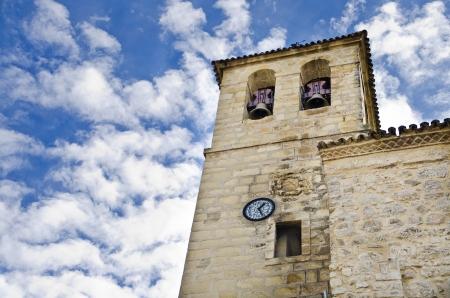 bartolome: Church belfry in cloudy