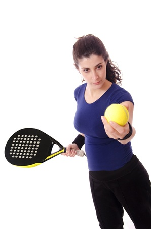 Feminine paddle tennis player photo