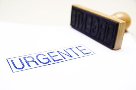 Urgente Spanish ink stamp photo