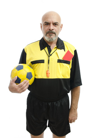 ref: Isolated referee on white background