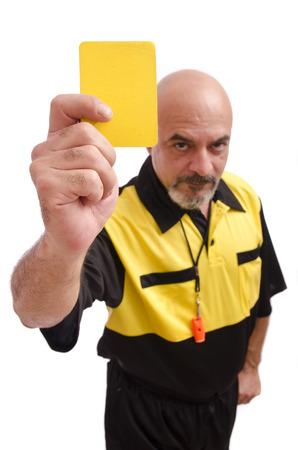 strip shirt: Yellow card