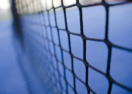 tennis net: paddle tennis or tennis net texture close up Stock Photo