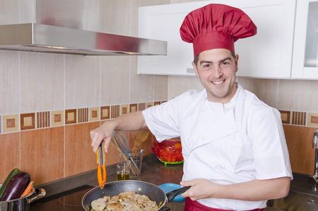 kitchen spanish: Chef in the kitchen
