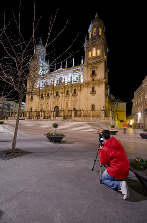 inland: wide angle image of historic building cathedral Asuncion of Jaen