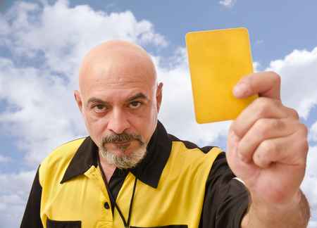 ref: Senior referee image showing card at the view