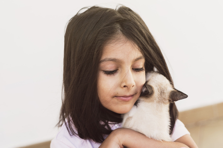 little children and pet puppy cat in outdoors image images