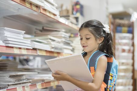 back to school little girl image of girl at store indoors