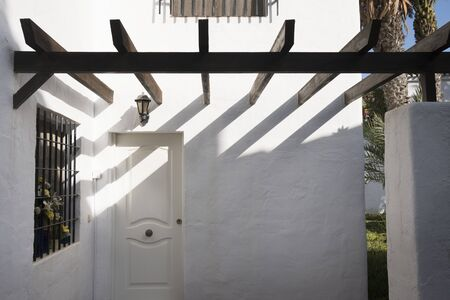 traditional Andalusian house facade in coast city