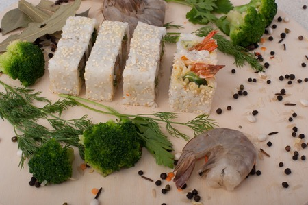 Roll sushi. Sushi menu. Japanese food.