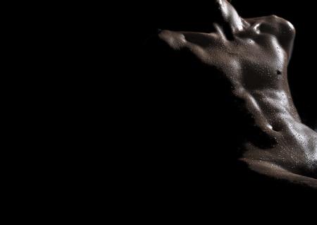 Mens chest and abdomen Standard-Bild