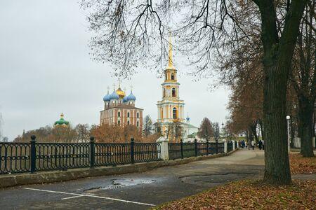 Buildings in the Ryazan Kremlin at autumn