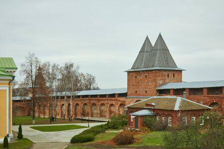 Protective brick wall of the Zaraisk Kremlin