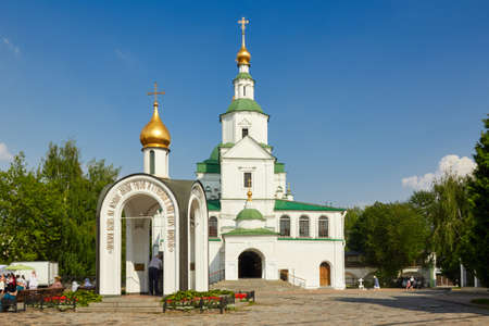 """Church of the Holy Fathers of the Seven Ecumenical Councils in Danilov Monastery. Built in XVII-XIX centuries. The object of the cultural heritage of the Russian Federation â""""– 7710186000, 7731373013. Danilov Monastery, Moscow, Russia. Фото со стока"""