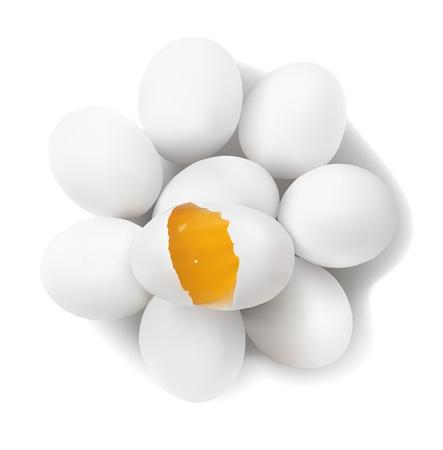 eggshells: Los huevos y la yema