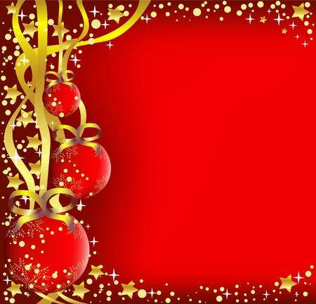 ball lights: Christmas background