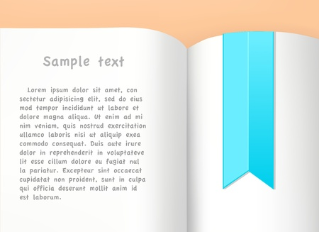 pocket book: Book with bookmark