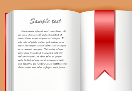 pocket book: Book with red bookmark Illustration