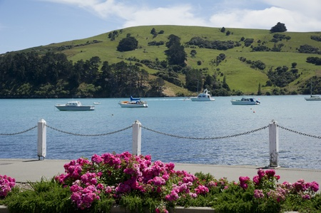 Boats on the river on the background of hills Stock Photo - 12002413