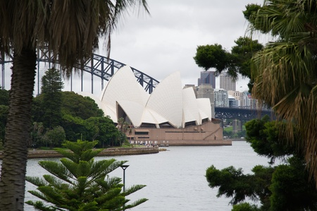 utzon: SYDNEY - DECEMBER 22: Sydney Opera House view on December 22, 2011 in Sydney, Australia. The Sydney Opera House is a famous arts center. It was designed by Danish architect Jorn Utzon.  Editorial
