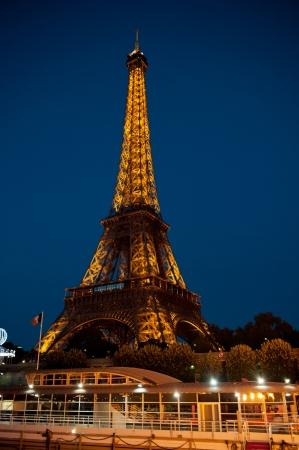 Paris, France - June 24, 2012: Night view of Eiffel tower