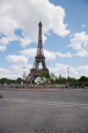 Paris, France - June 22, 2012: View of Eiffel tower