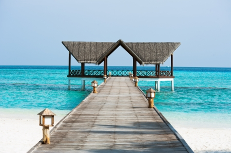 Beautiful jetty over the indian ocean