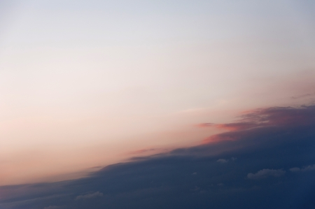 Blue clouds in the sky at the sunset photo