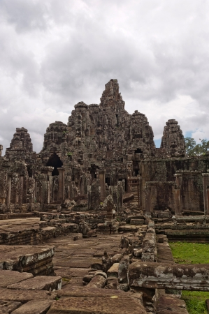 Area of Angkor Wat temple in Cambodia photo