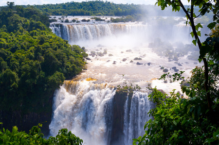 Iguassu Falls is the largest series of waterfalls on the planet, located in Brazil, Argentina, and Paraguay. photo