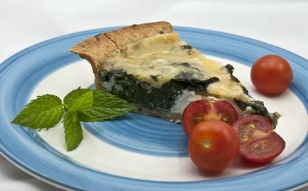 stilton: Home made Spinach and Stilton Quiche