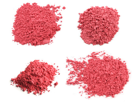 pink texture: Cosmetic powder isolated on white background