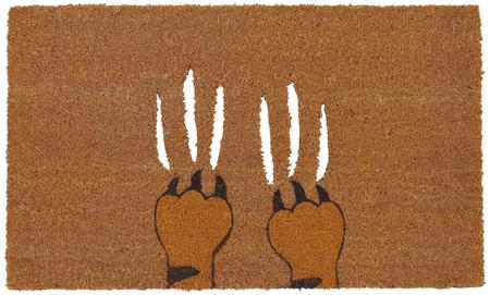 Aggeresive beige color tiger claws on zute  Coir Outdoor Door mat