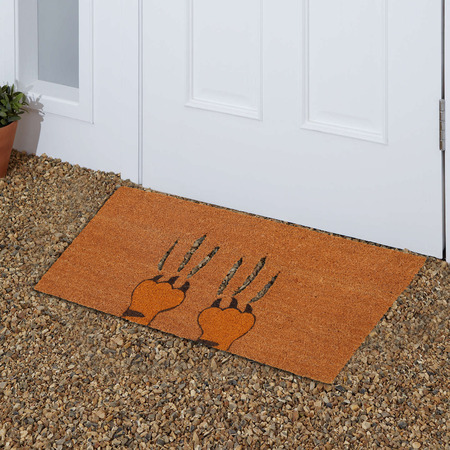 Aggeresive beige color tiger claws on zute  Coir Outdoor Door mat outside home