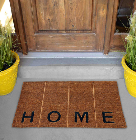 Beautiful Beige and black zute  coir Outdoor Door mat with