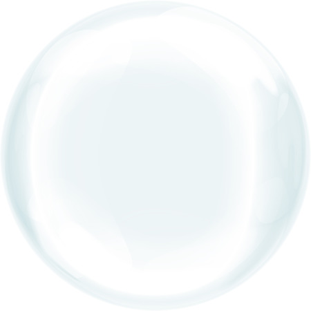 Realistic soap bubble Vector. Transparent Isolated Realistic Design Elements. Transparent glass sphere. Transparency only in vector file. Stock Photo