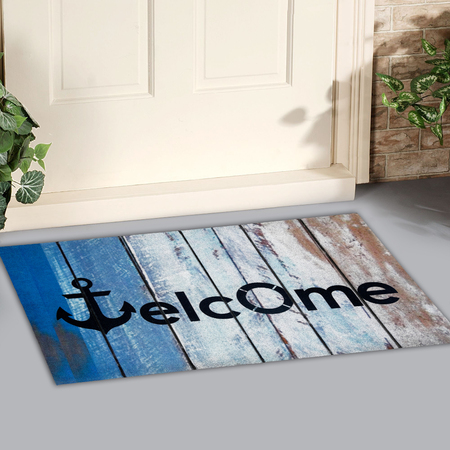 Beautiful beach theme multicolor Outdoor Doormat with