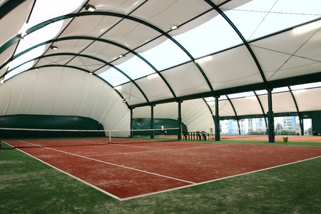 Indoor tennis court. Stock Photo - 11489968