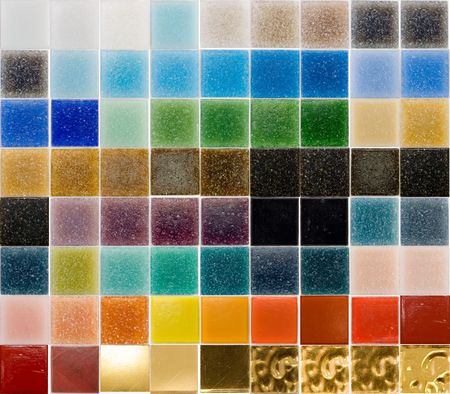 palette of a glass tiles Stock Photo - 2701192