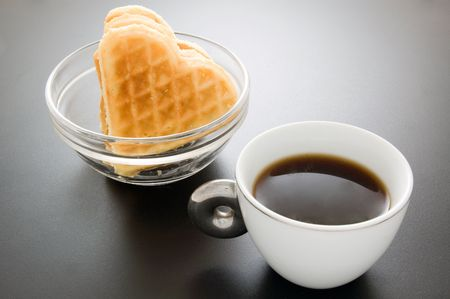 coffee with waffles Stock Photo - 2727697